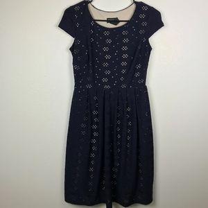 3/$20 En Focus Eyelet Fit Flare Dress Size 4